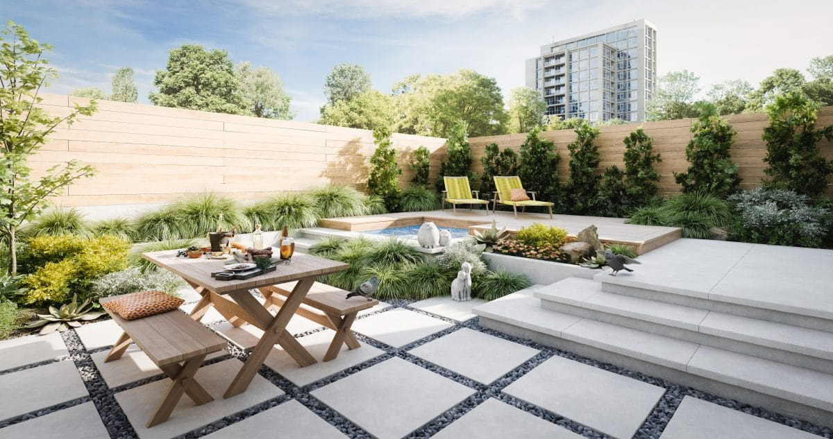 Five ways to use concrete in your garden design